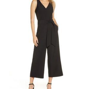 Lucy.com Black Tank Cropped Leg Jumpsuit, Pockets!